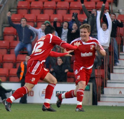 Danny Ward Swindon v Yeovil 28 December 2009